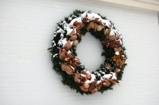 Snow on wreath