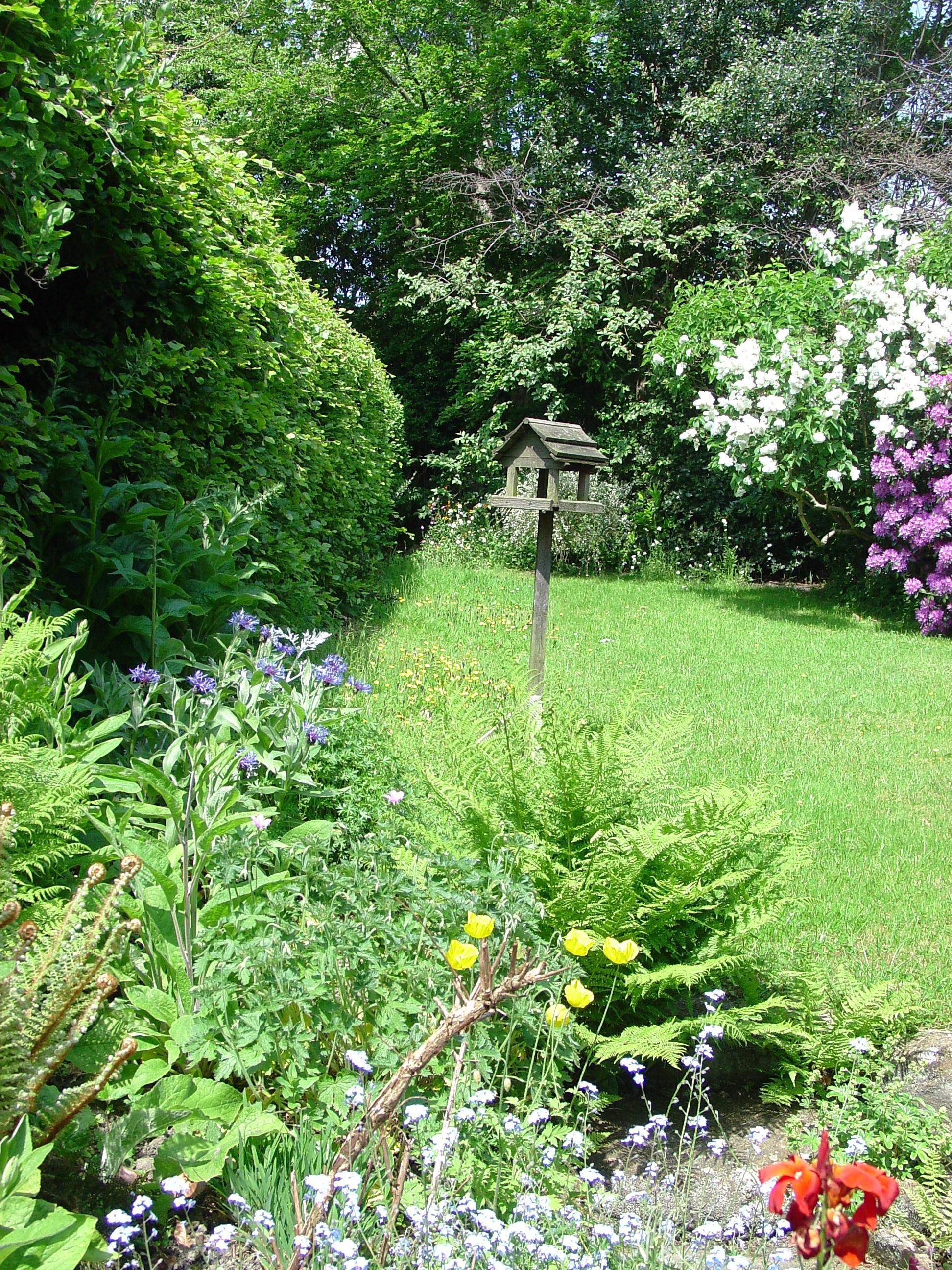 an english country garden well suburban actually. Black Bedroom Furniture Sets. Home Design Ideas