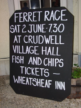 Wheatsheaf Inn, blackboard